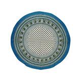 Mantel De Algodón Estampado Indio 58 Azul Cerúleo