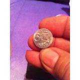 Moneda Dominicana Conmemorativa De Mella En Plata De 5 Centa