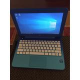 Mini Laptop Hp 11-d010nr 11.6 32gb 2.16gz 2gb Azul Muy Buena