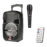 Bocina Baffle Grande Con Control Y Microfono Kimiso Karaoke