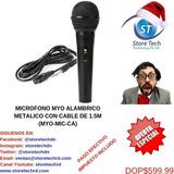 Microfono Myo Alambrico Metalico Con Cable De 1.5m (myo-mic