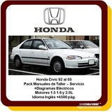 Honda Civic Manual Servicio Taller Reparacion 92 A 05 Españo