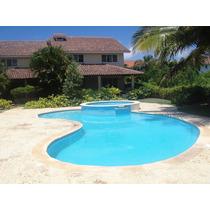 Villa Amueblada En Juan Dolio, 3habs. 2pq, Pisicina, Playa