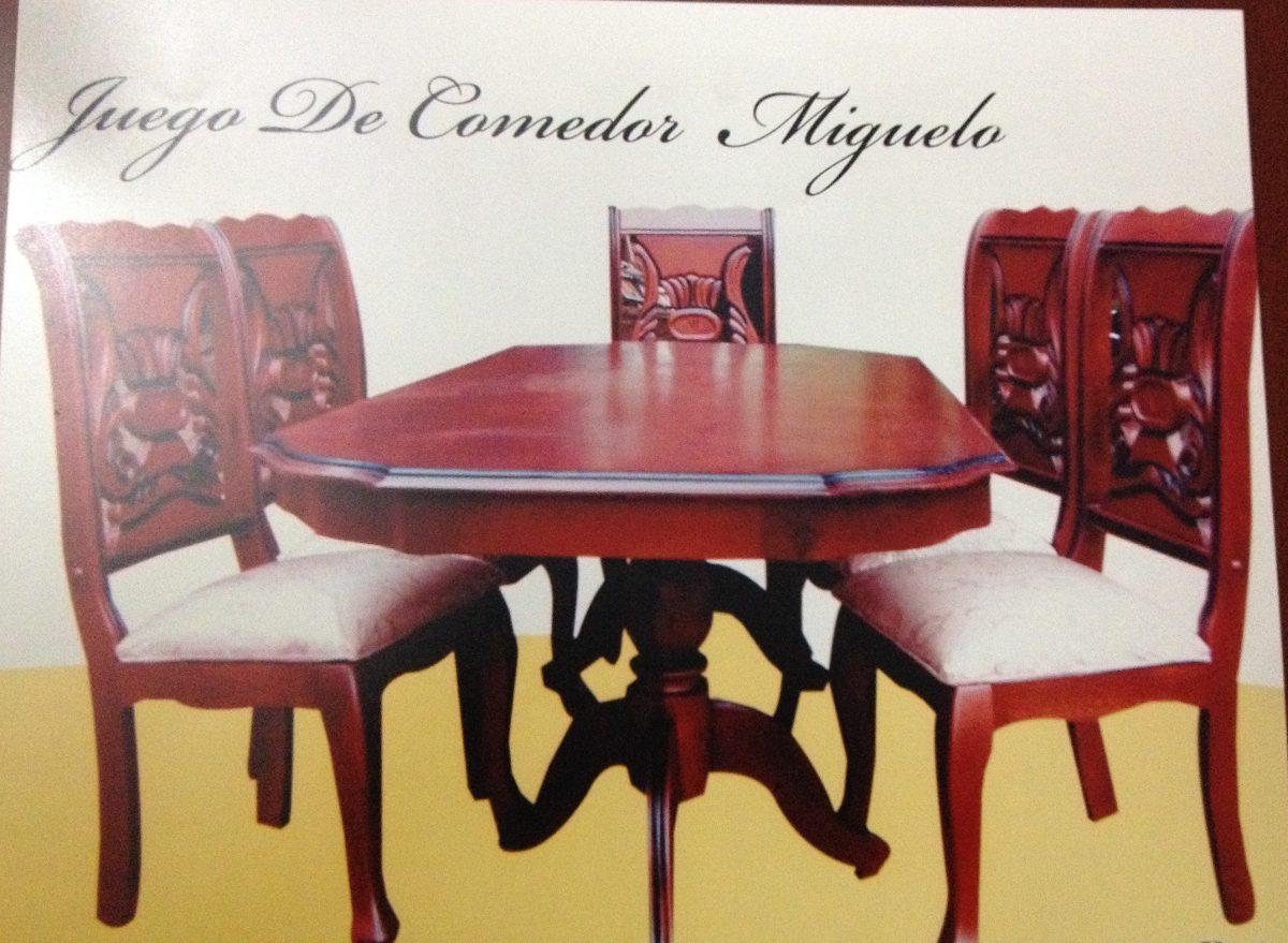 Juego de comedor 6 sillas en madera americana 35 000 for Comedor 6 sillas moderno