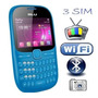Celular Blu Con 3 Sim Al Mismo Tiempo Radio,tv Y Wifi | GMANZUETA